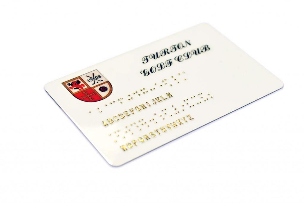 Braille plastic cards