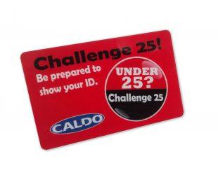 Challenge 25! Plastic Card