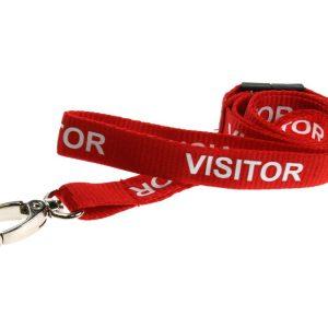 100 Red Visitor Lanyards