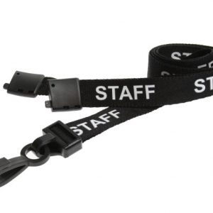 100 Black Staff Lanyards
