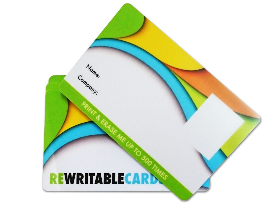 Re-writable cards